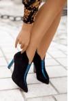 Czarne zamszowe botki Leighton blu