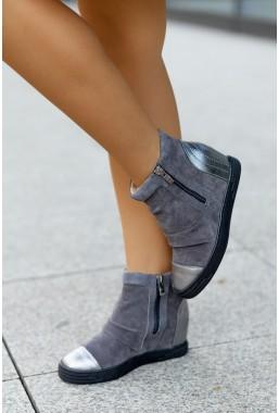 Szare sneakersy Lidia