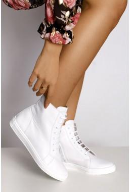 Białe sneakersy damskie Alanna