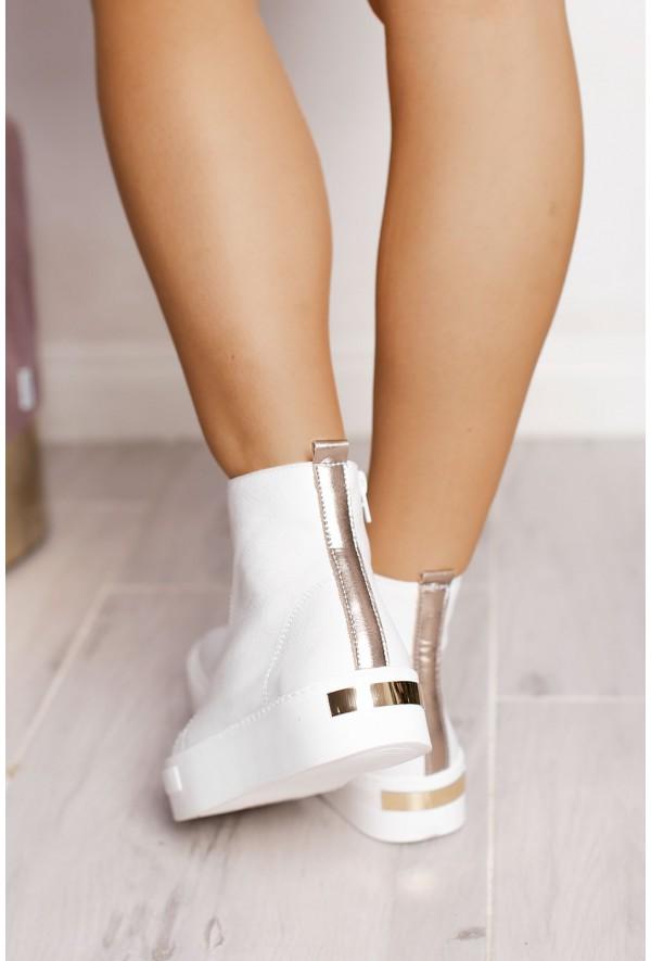 Białe sneakersy damskie Giles