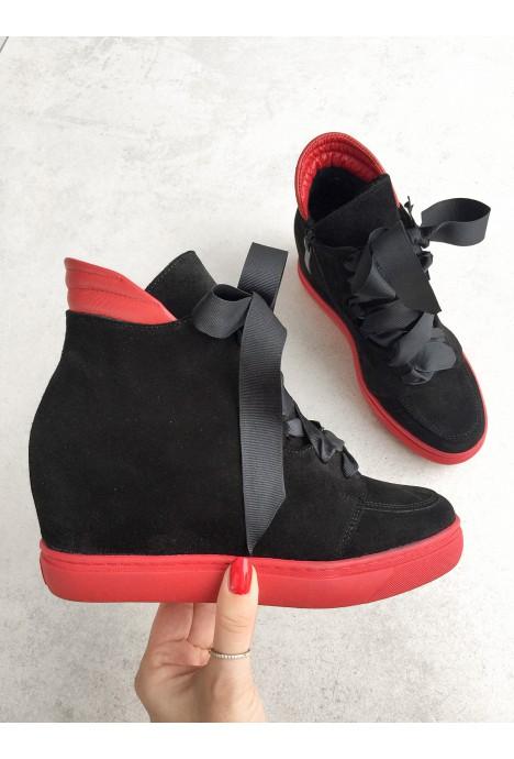 Czarne sneakersy Elisa