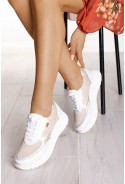 Beżowe sneakersy Shanice