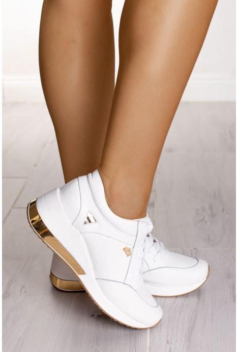Białe sneakersy Lucille