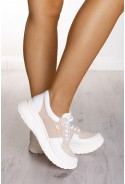 Beżowe sneakersy Amie