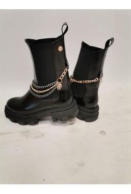 Czarne botki Chanelle