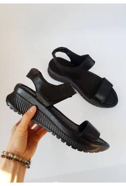 Czarne sandały Belen