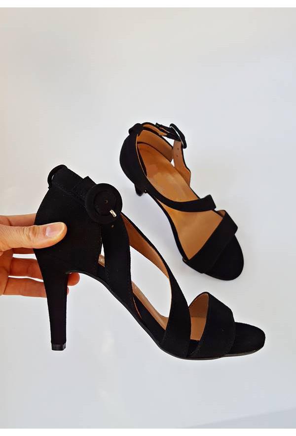 Czarne sandały na szpilce Clarisa