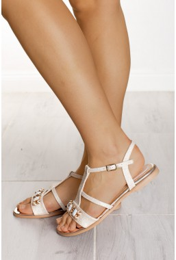Złote sandały Celeste
