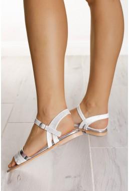 Srebrne sandały Summer