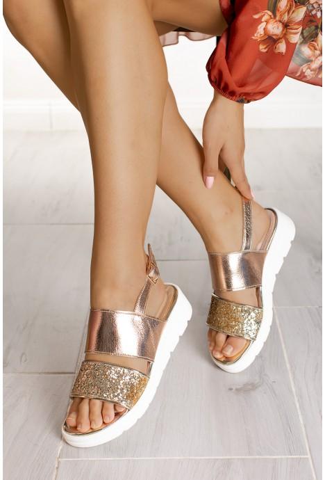 Złote sandały Alexa