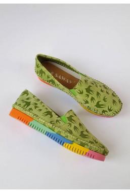 Zielone trampki Leila