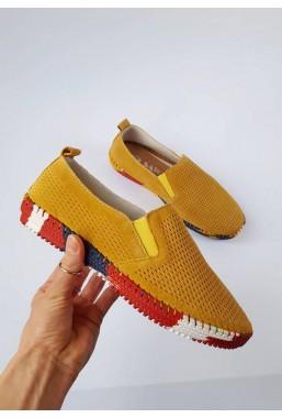 Żółte trampki Adelia