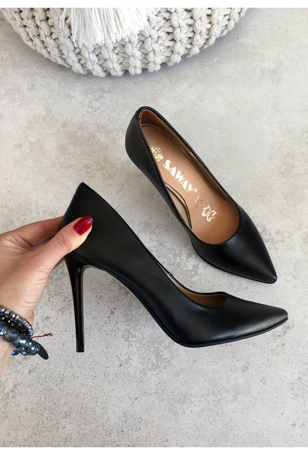 Czarne szpilki Nelle