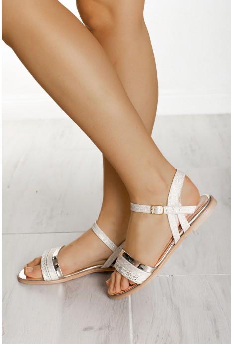 Złote sandały Ashley