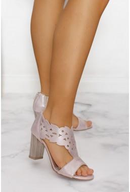 Ażurowe sandały Nikkita róż