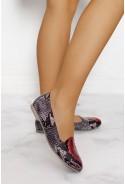 Wężowe baleriny Kelsea rosso