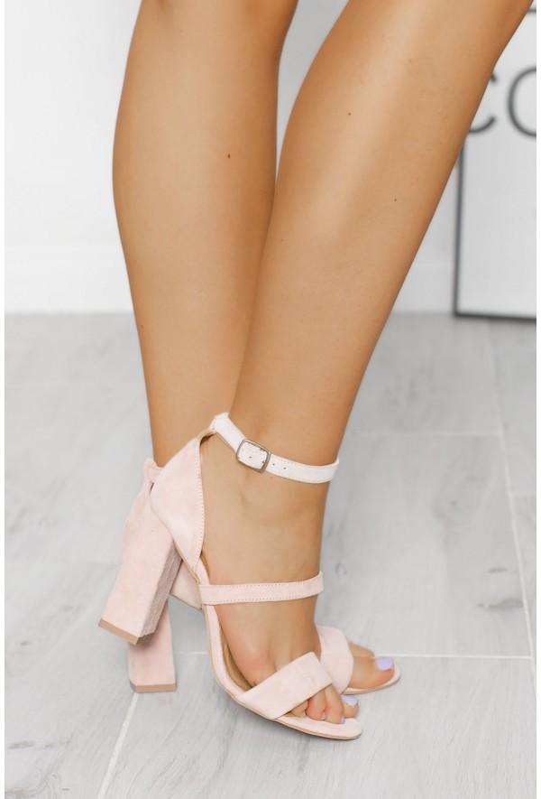 Zamszowe sandały Harleen pudrowy róż