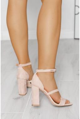 Zamszowe sandały Harleen cappuccino