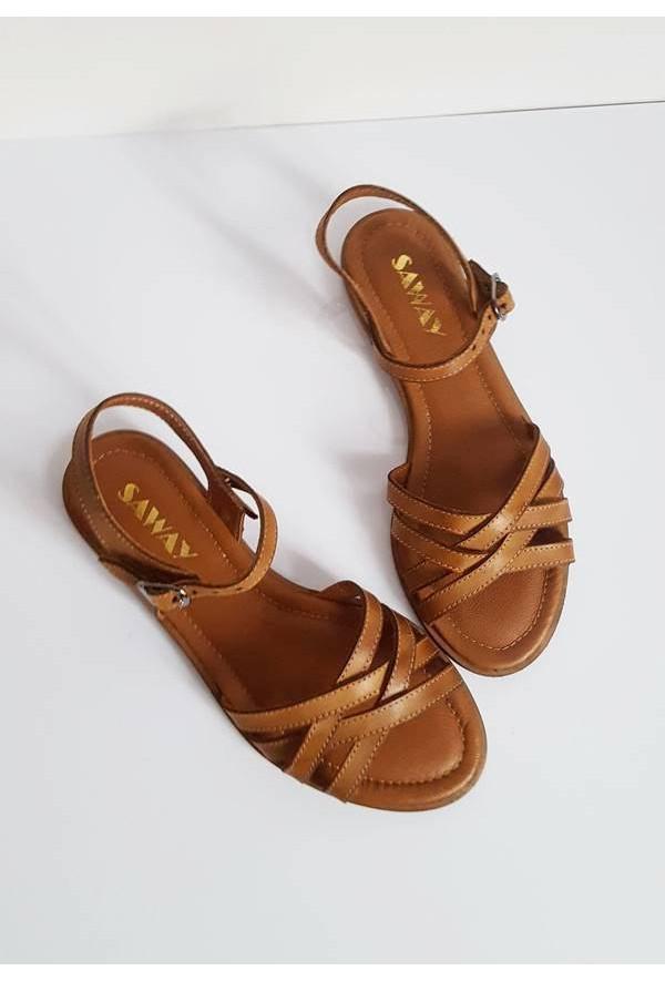 Brązowe sandały Lorita