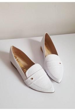 Białe baleriny Matilde
