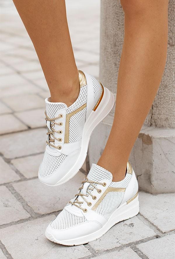 Białe sneakersy Nichole