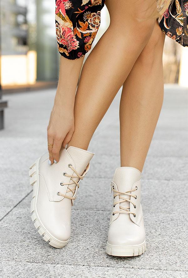 Beżowe botki Marissa