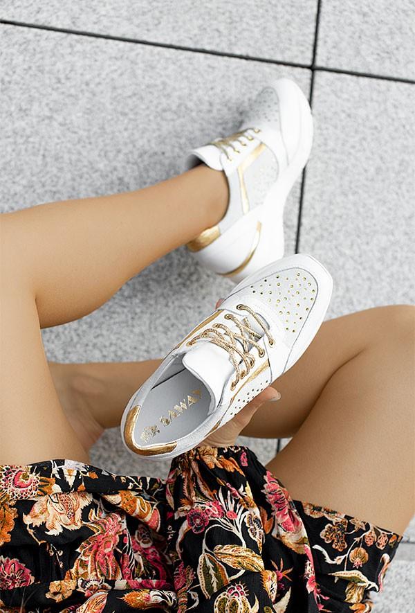 Białe sneakersy Aleena d'oro