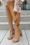 Zamszowe sandały Nancie cappuccino