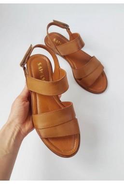Brązowe sandały Mauricia