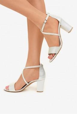 Srebrne sandały Cidalia