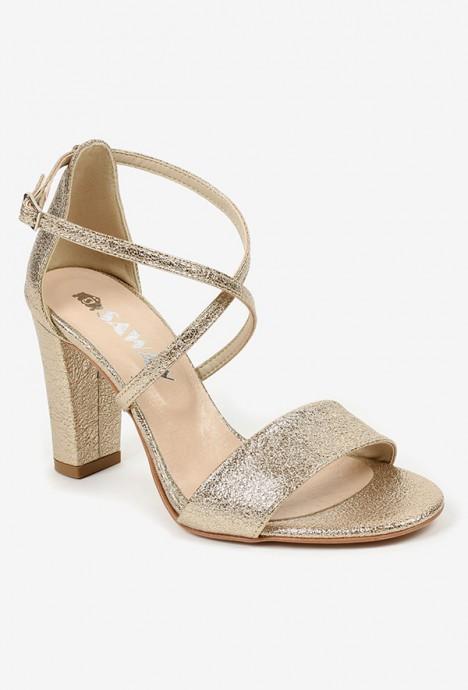 Złote sandały Leticia