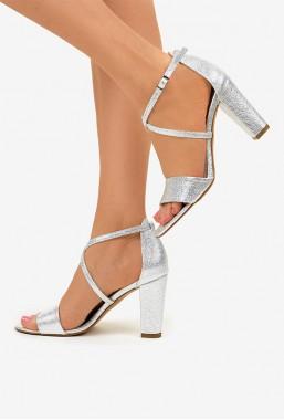 Srebrne sandały Leticia
