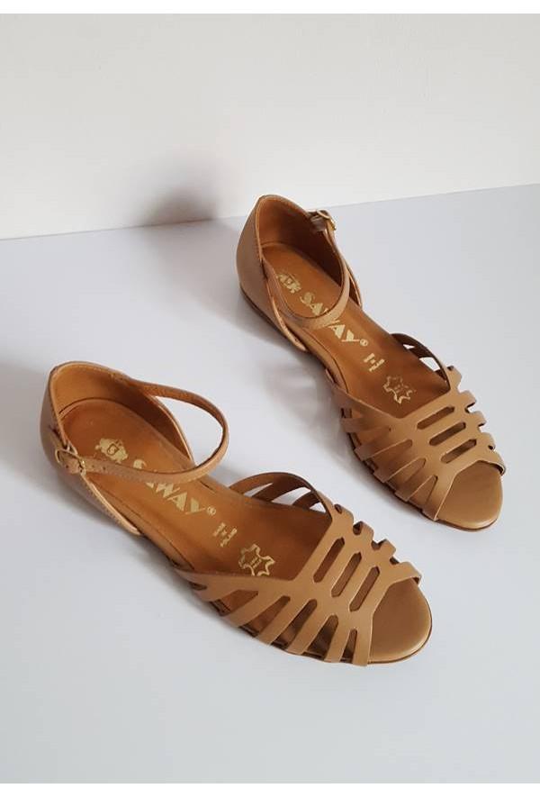 Sandały Lena jasny brąz