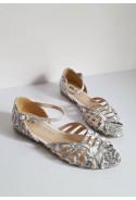 Białe sandały Lena