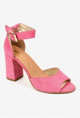 Zamszowe sandały na słupku Adrianna