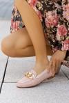 Mokasyny Fidelia pudrowy róż