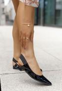Czarne lakierowane baleriny Rute