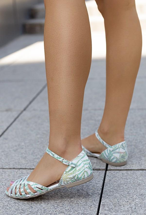 Zielone sandały Lena