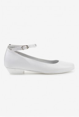 Eleganckie białe buty dla dziewczynki na komunię Jaga