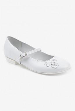 Eleganckie białe buty dla dziewczynki na komunię Gili