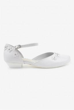 Eleganckie białe buty dla dziewczynki na komunię Demi