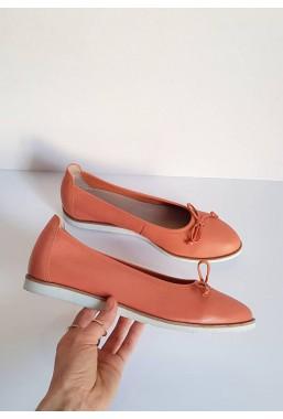 Damskie baleriny Peach