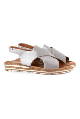 Srebrne sandały Evie