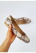 Wężowe baleriny Mocia beż