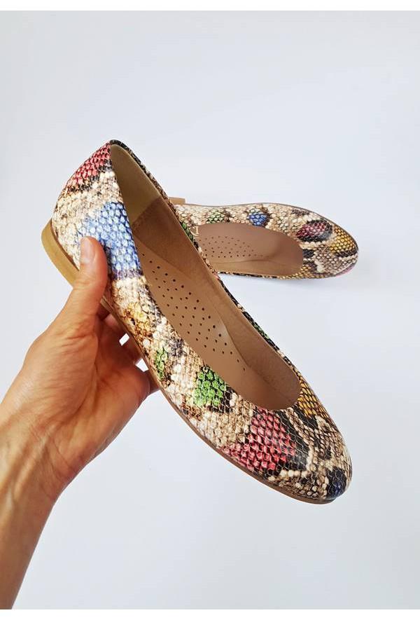 Wężowe baleriny Mocia kolor