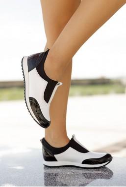 Czarno białe sneakersy Cruz