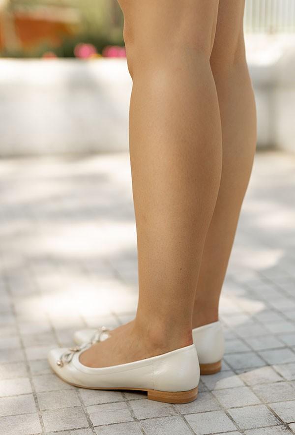 Beżowe baleriny Isidora