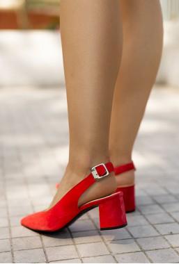 Czerwone czółenka Theresa