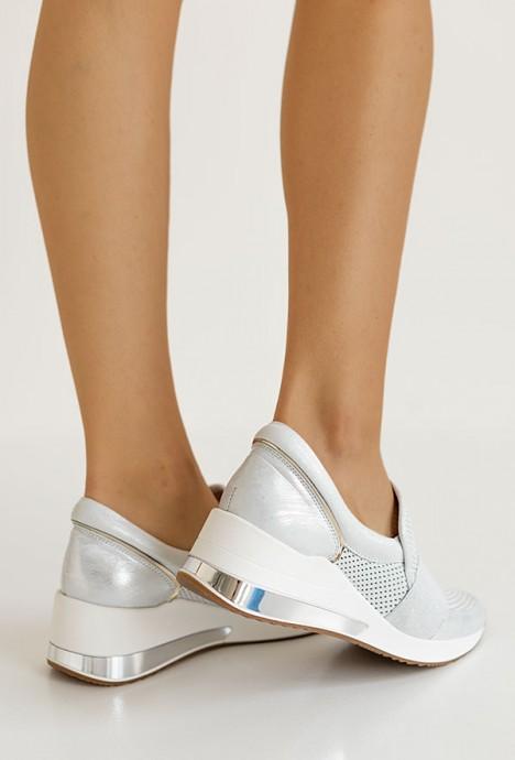 Ażurowe sneakersy Afelia argento