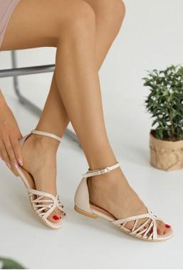 Beżowe sandały Givena